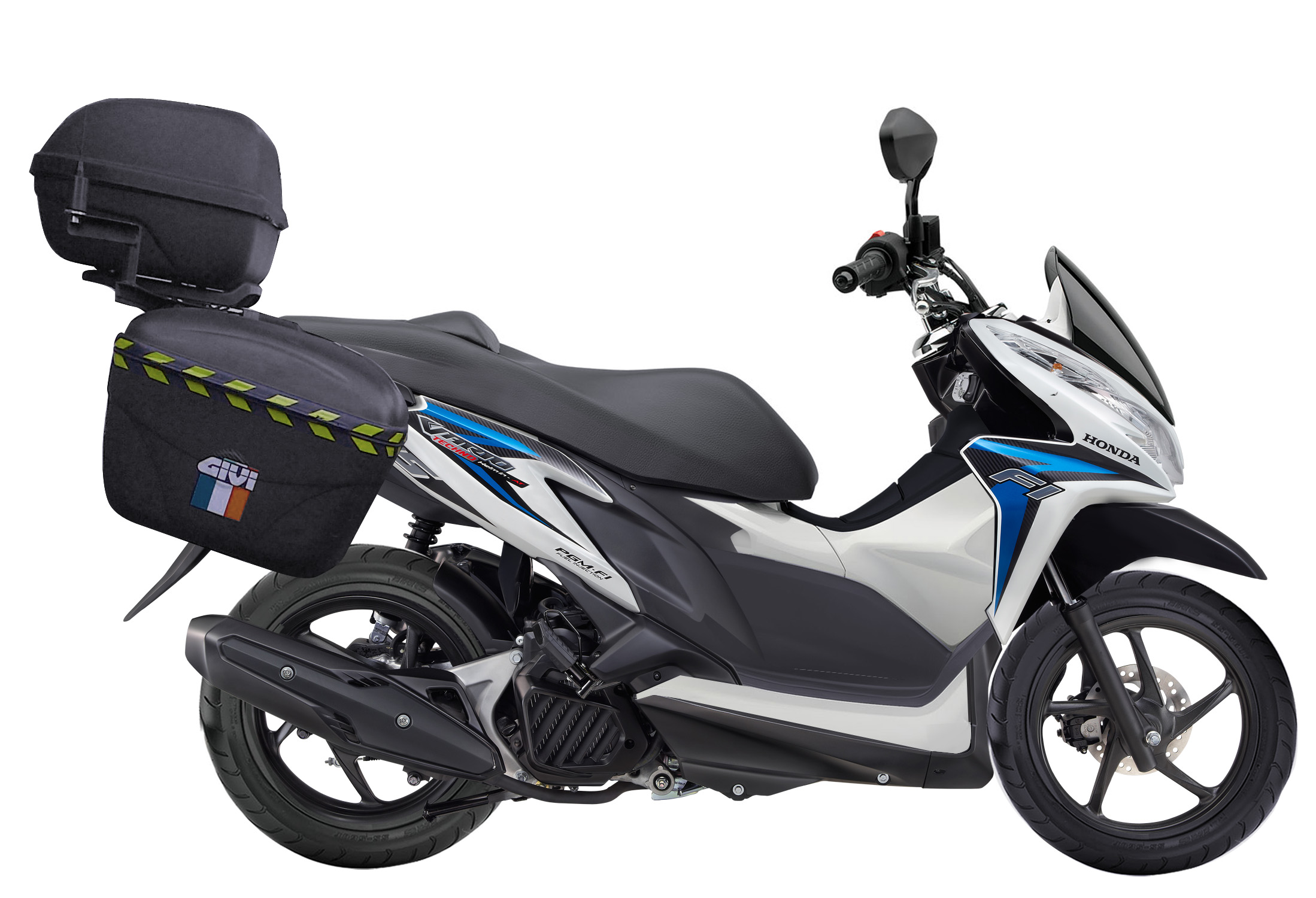 modif vario 125 cbs untuk touring model pcx - fushion model