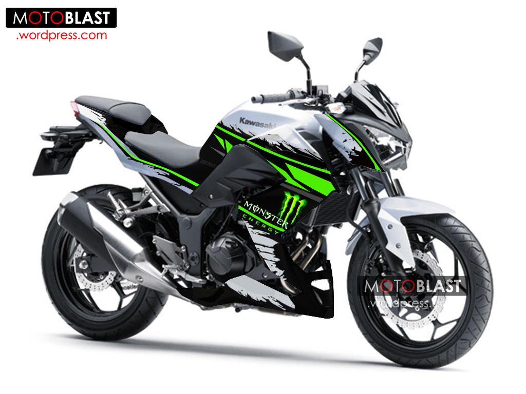 Kawasaki Z250 Special Edition New Striping Monster Energy!!