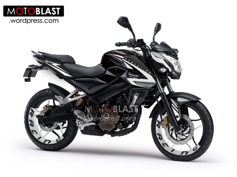 Modifikasi Striping Kawasaki Bajaj