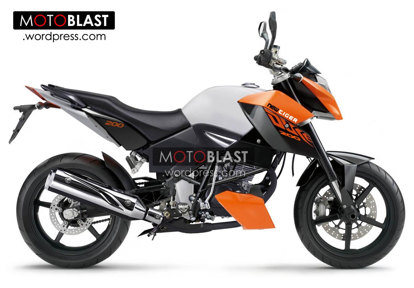 Modif Honda Tiger Mata Picek New Tiger DUKE 200 Dan New Tiger
