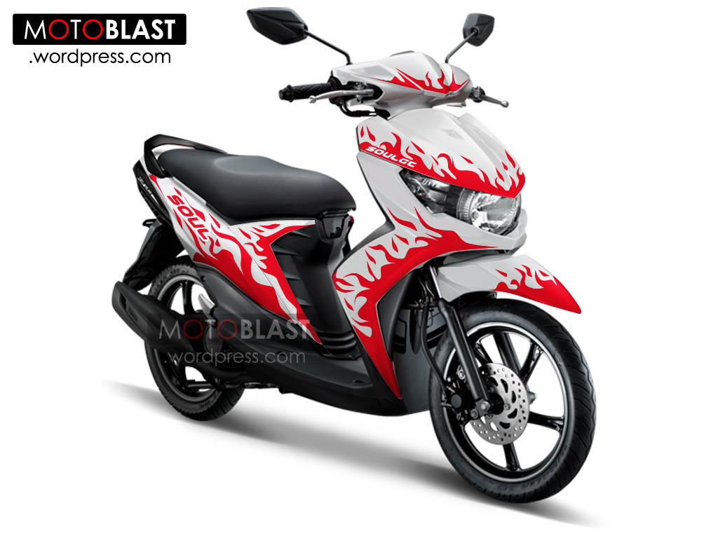 Kumpulan Gambar Cutting Sticker Motor Matic Soul Gt Modif Sticker