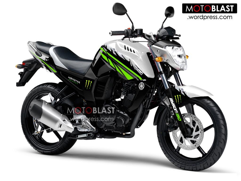 modif byson putih striping ala monster energy!! lagi! | motoblast