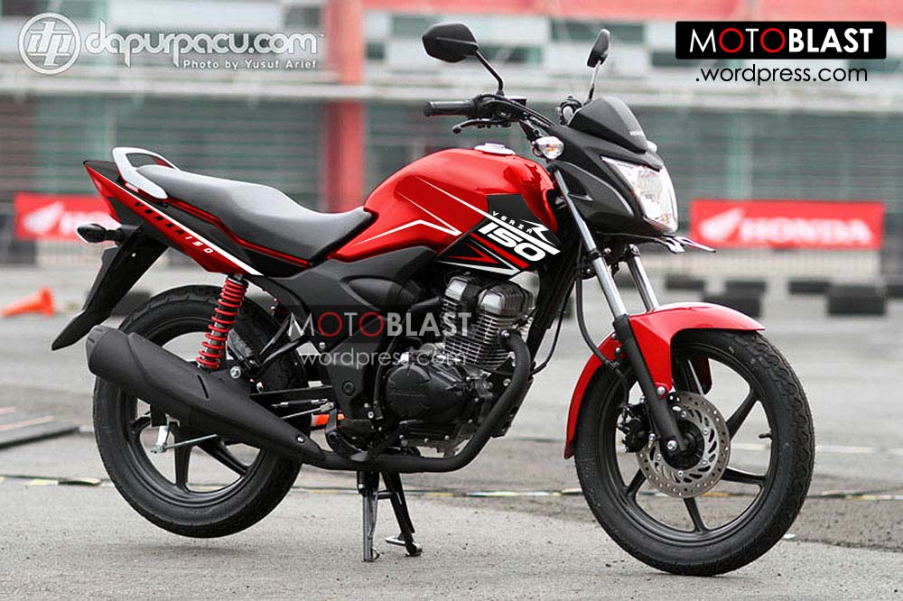 Modif Striping Untuk Honda Verza 150 Merah Asik Buat Jalan