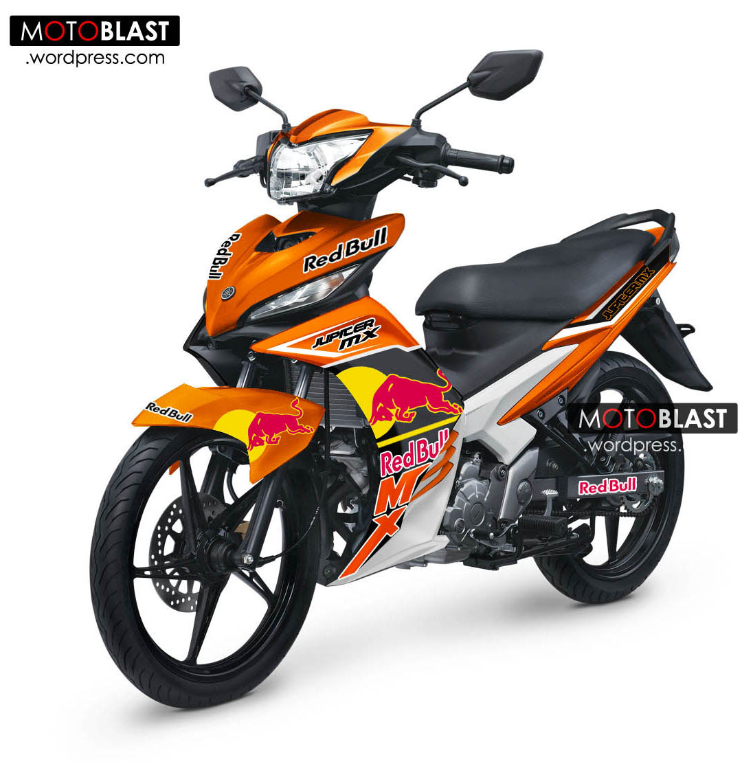Modif striping new jupiter mx 2013 ala ktm redbull