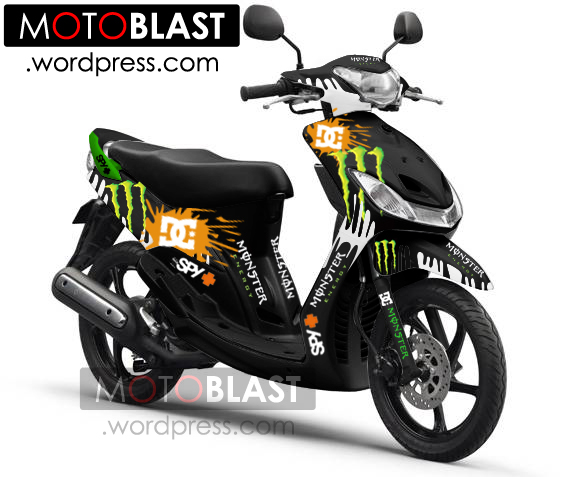 terbaru modifikasi motor mio sporty black