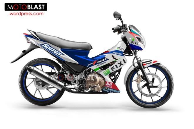 modif striping Suzuki-Satria-FU-150-1