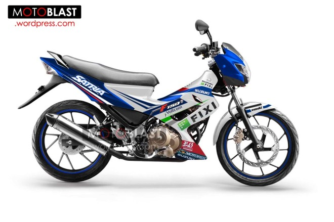 modif striping Suzuki-Satria-FU-150-2