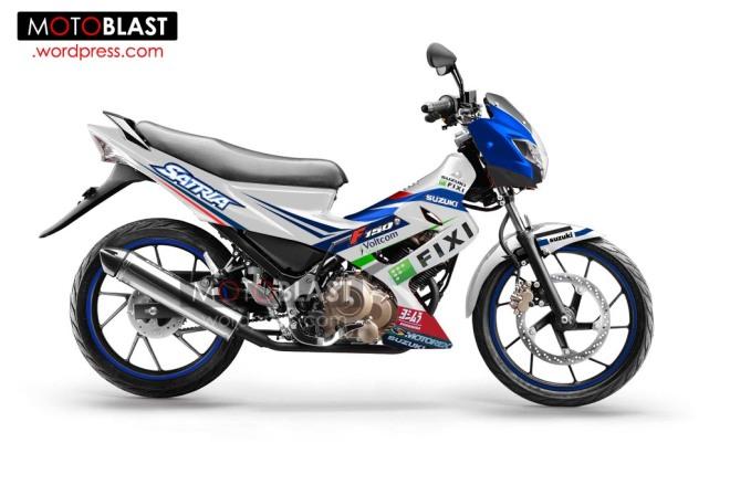 modif striping Suzuki-Satria-FU-150-3