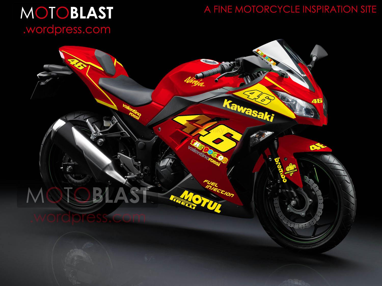 modif striping new kawasaki ninja 250r fi merah! | motoblast