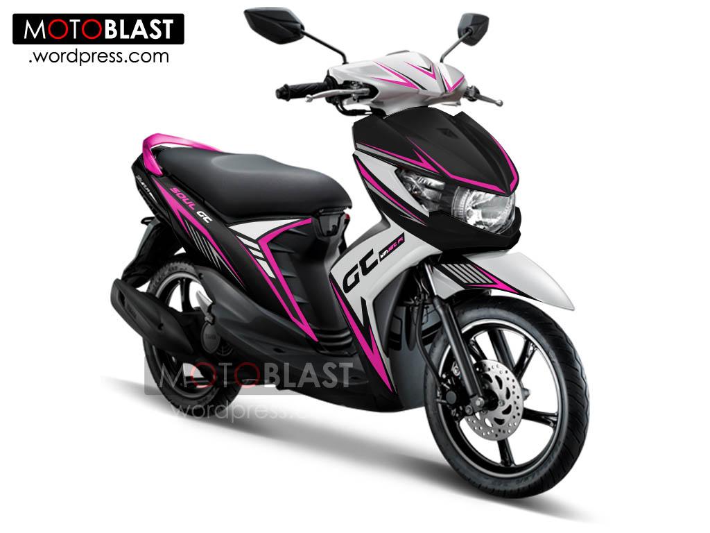 Kumpulan Gambar Modifikasi Yamaha Mio Warna Pink