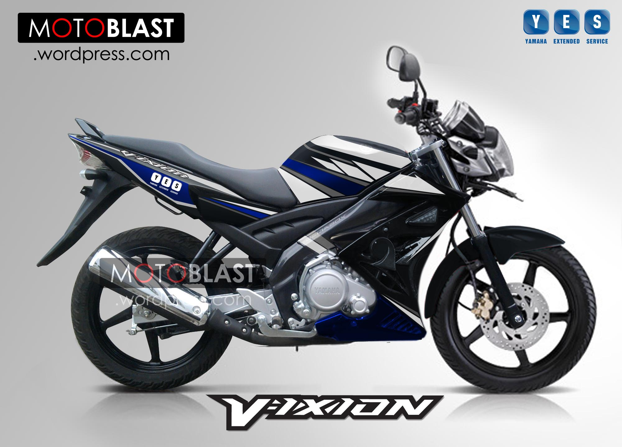 Modif Striping Yamaha Vixion