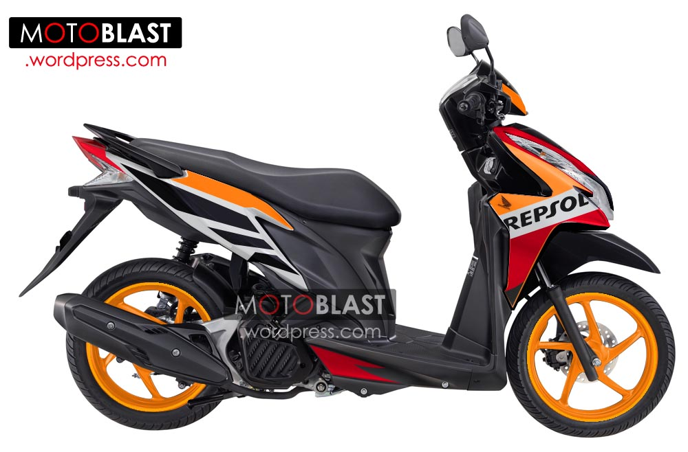 Modif Striping Vario techno 125 Repsol