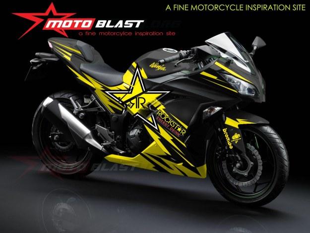 modif striping kawasaki ninja 250r FI black-ROCKSTAR2
