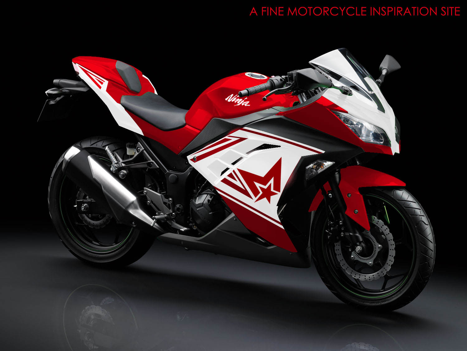 modif striping kawasaki ninja 250r fi red motoblast pictures. Black Bedroom Furniture Sets. Home Design Ideas