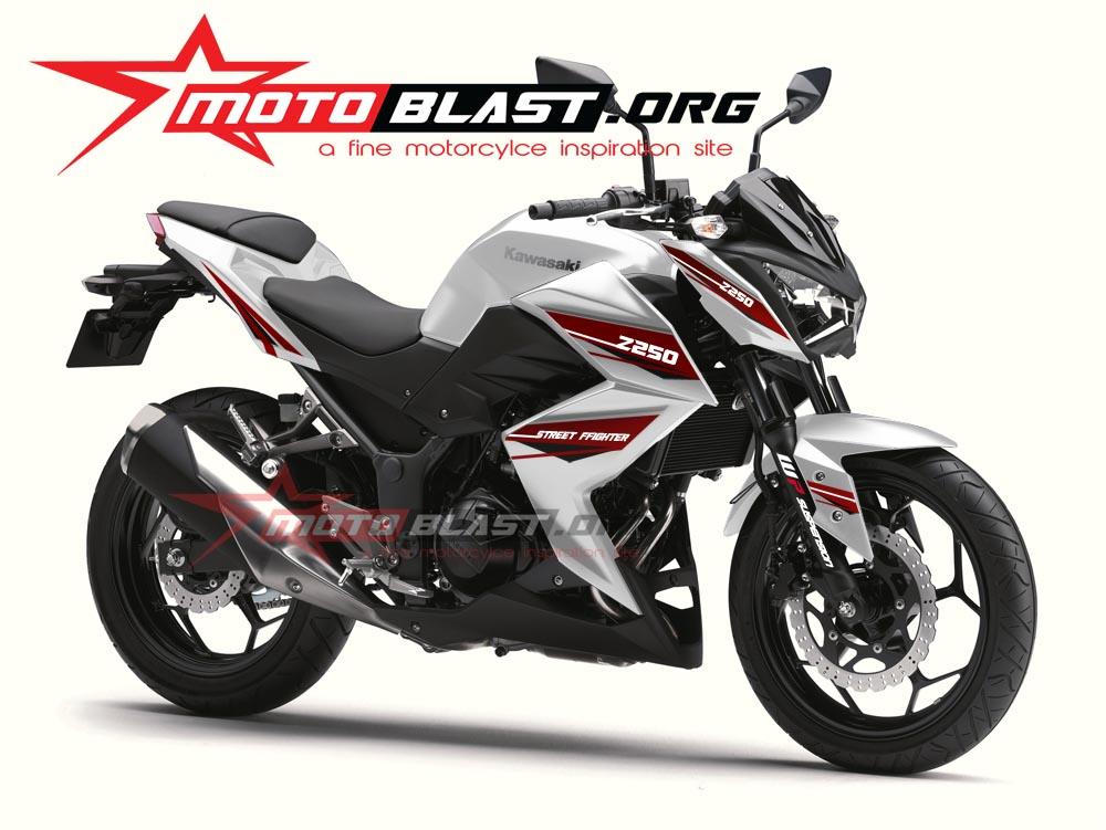Modif Striping Kawasaki Z250 White | MOTOBLAST