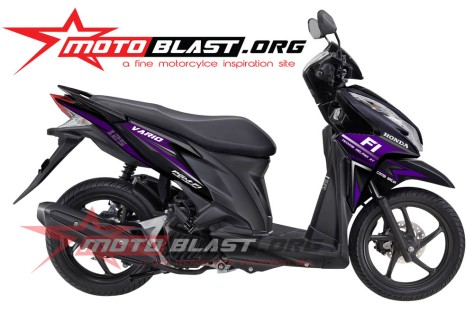 Modif Striping Honda Vario Techno 125 black!