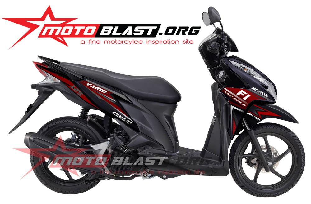 Modif Striping Honda Vario Techno 125 Black Motoblast Blog