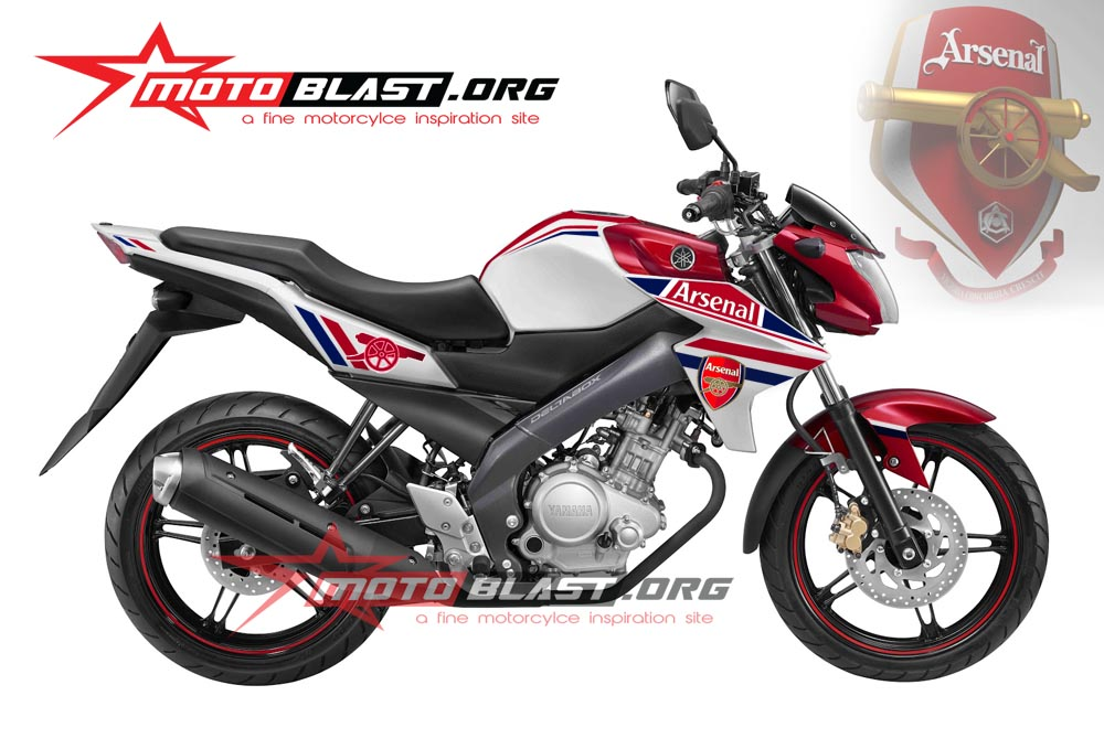 Modif Striping New vixion 2014 white ArsenalFC!