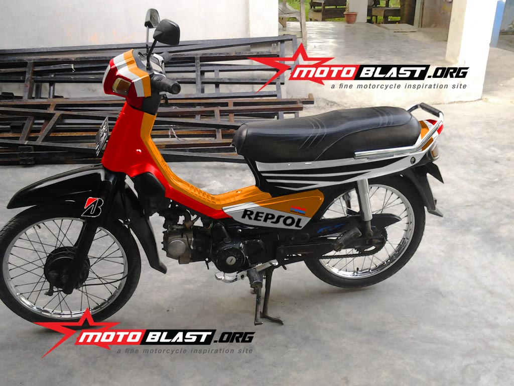 Modif Striping Honda Astrea Grand Repsol Edition Terbaru Motoblast