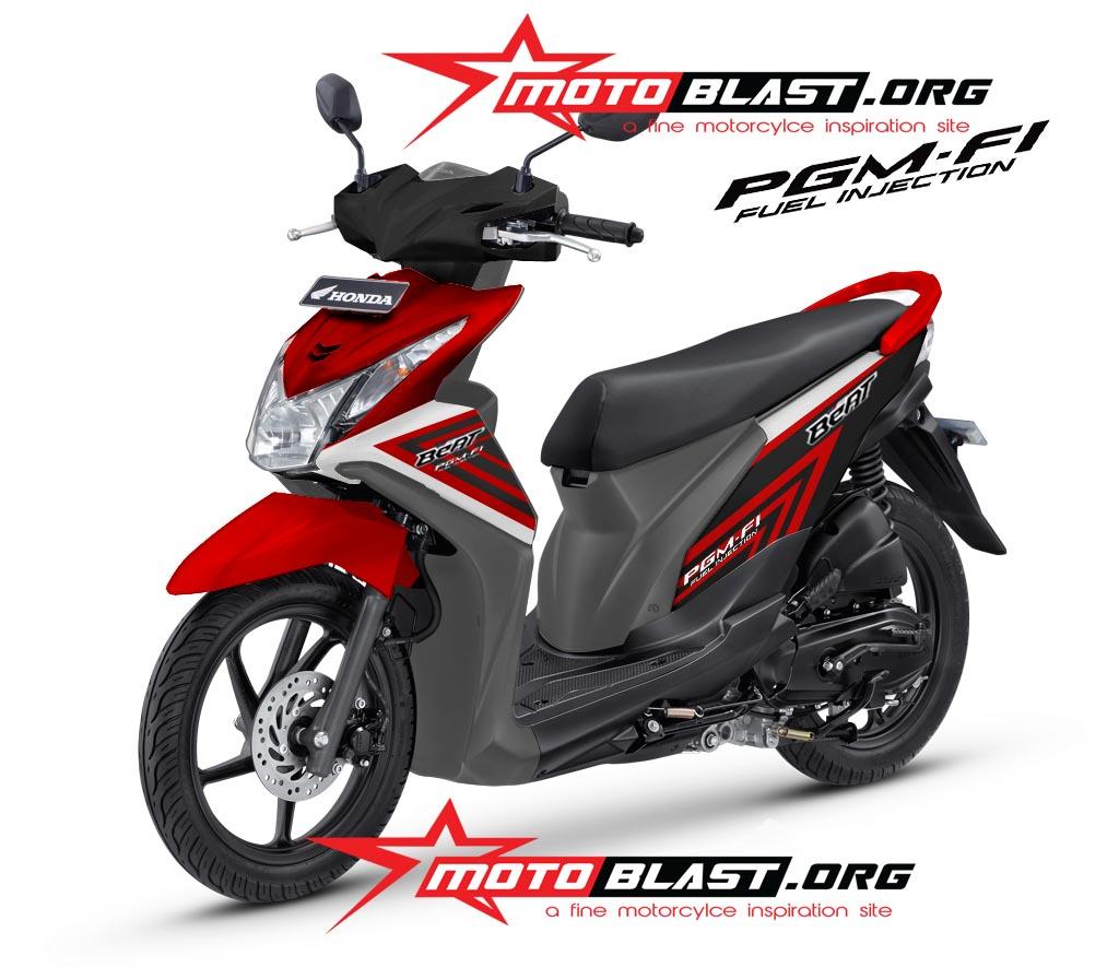 77 Modifikasi Motor Beat Fi Warna Merah Putih Terunik Gendoel Motoer