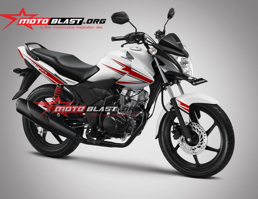 Modif Striping Honda Verza 2014 White!