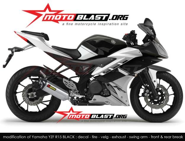 Modif Simple Yamaha RZF R15 Untuk Mendongkrak Tampilan