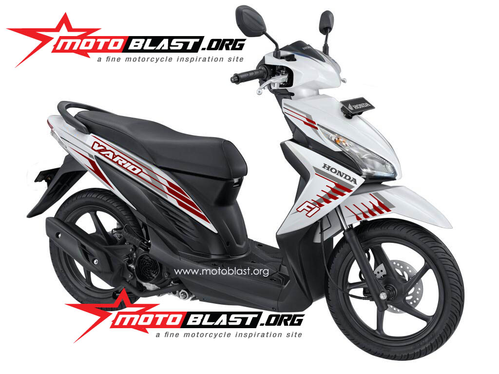 Modif Striping Honda Vario 110 FI White! | MOTOBLAST