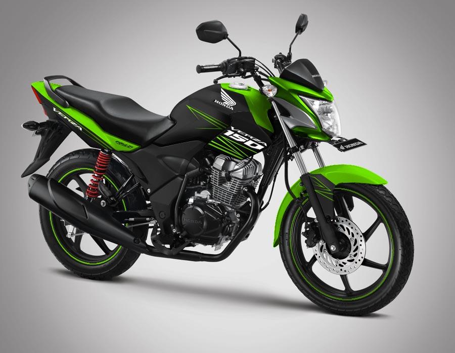 Modifikasi Striping Honda Verza 150 – 2014 Black Green!