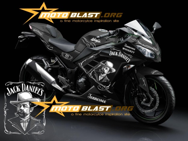 modif striping kawasaki ninja 250r FI black - jack daniel1