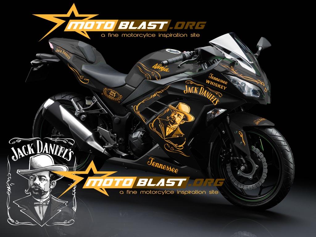 kawasaki ninja 250r fi black -jack daniels!! | motoblast