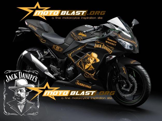 modif striping kawasaki ninja 250r FI black - jack daniel2
