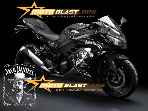 modif striping kawasaki ninja 250r FI black - jack daniel3