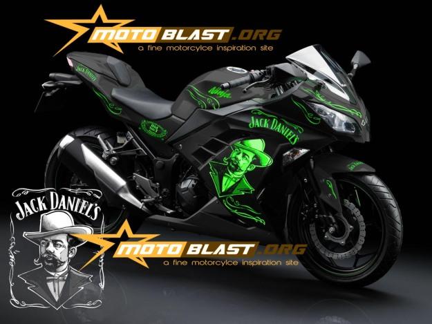 modif striping kawasaki ninja 250r FI black - jack daniel5