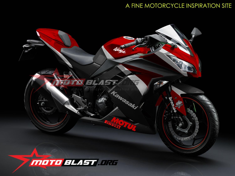 ... dalam Modif Striping Kawasaki Ninja 250 R FI Black! . Selanjutnya