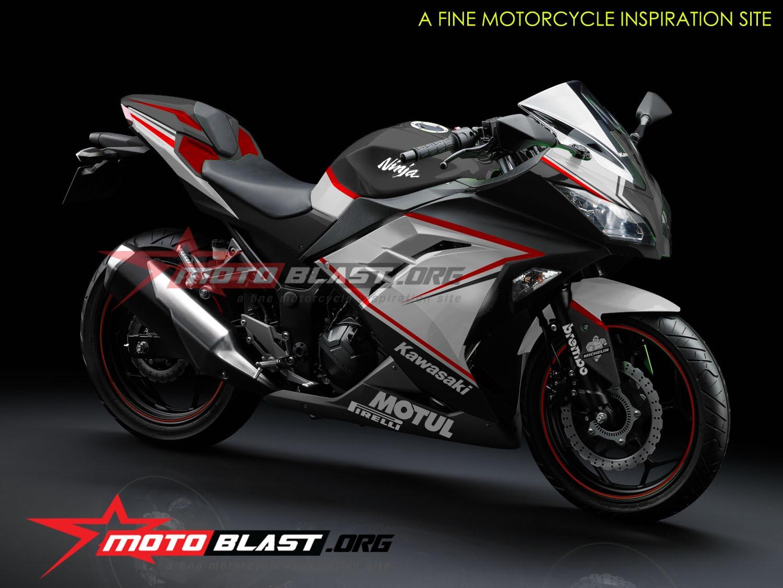 modif striping kawasaki ninja   fi black motoblast