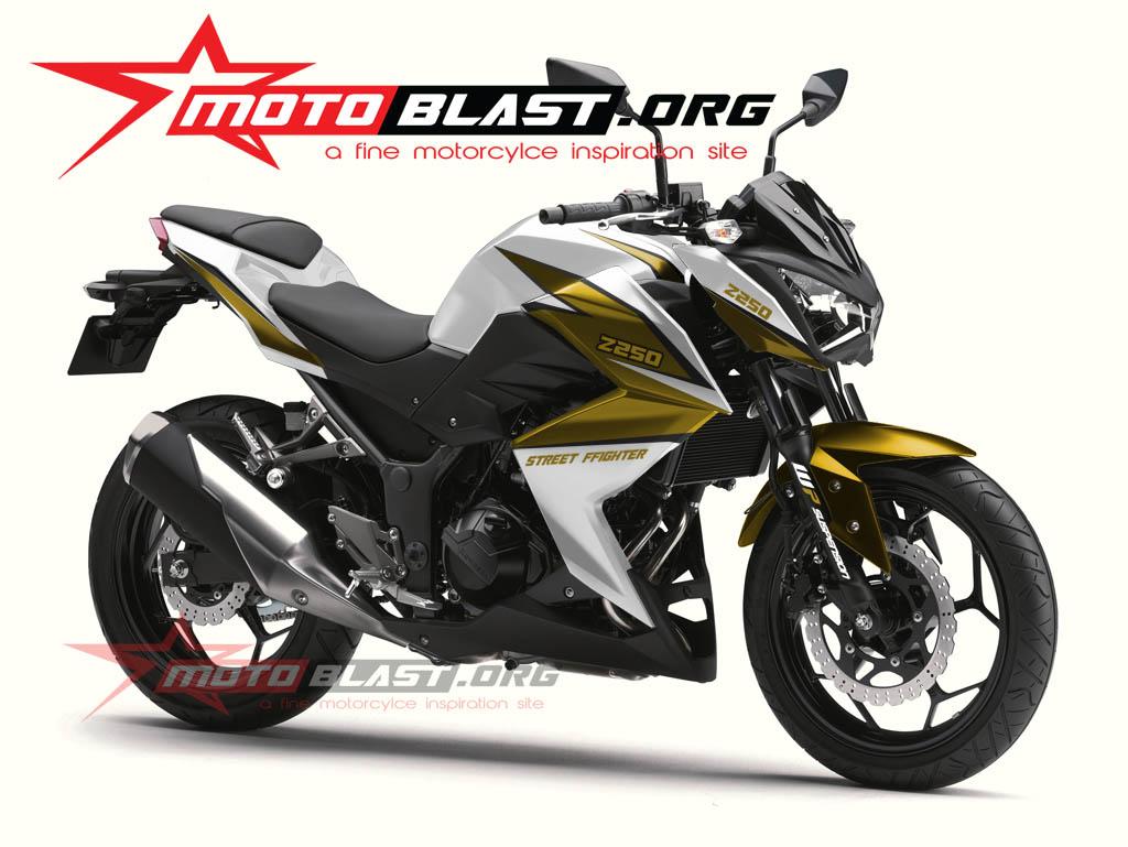 Modif Striping Kawasaki Z250 White | Car Interior Design