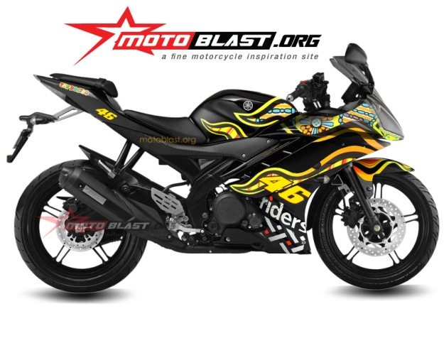 modificationdecal design  special edition yamaha R15 black 2014