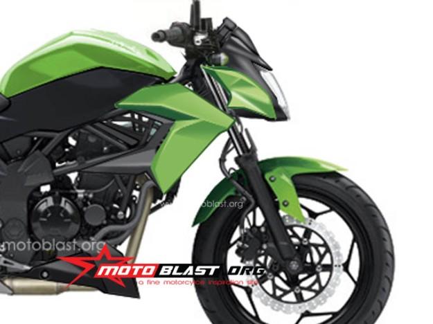 new rendering ninja 250 RR mono nakedbike 2014-front