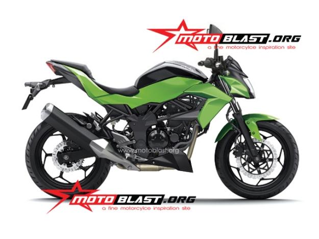 new rendering ninja 250 RR mono nakedbike 2014