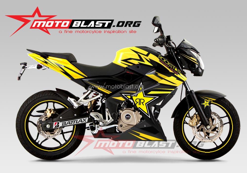 Modif Striping Kawasaki Bajaj P200ns Motoblast