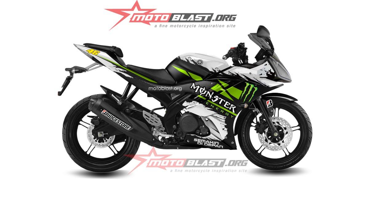 Ini Dia Yamaha R15 Versi Monster Energy Semakin Garang