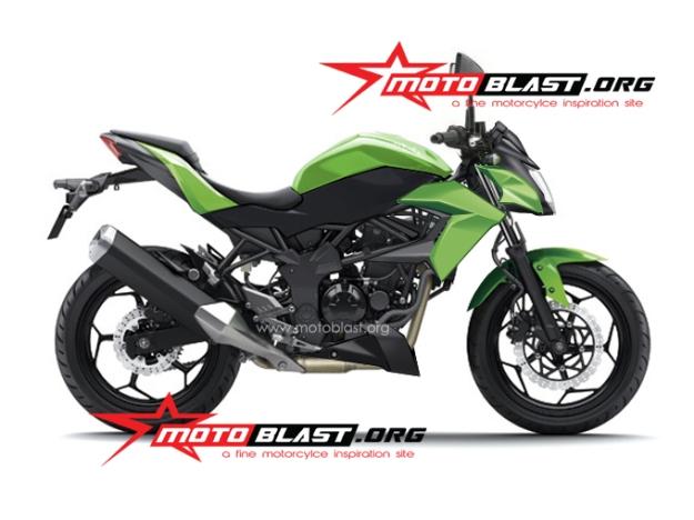 new rendering ninja 250 RR mono nakedbike 2014-2