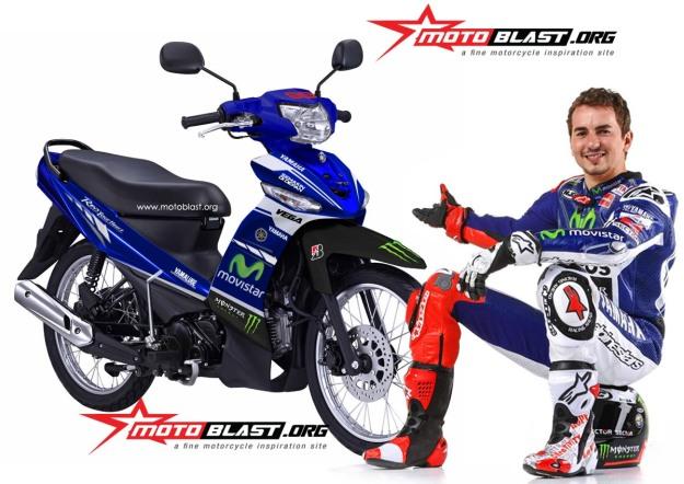 Modif Decal Design Yamaha New Vega R Movistar Yamaha Motogp
