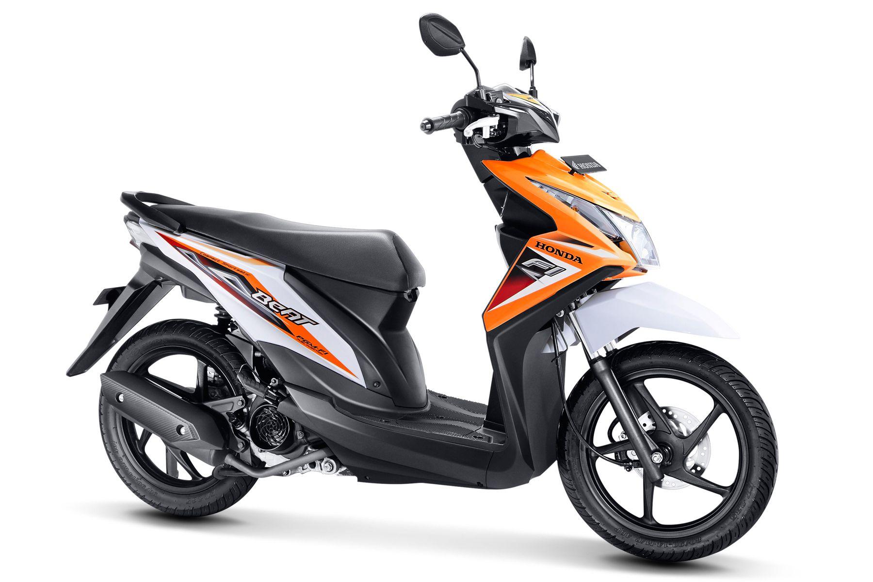 73 Modifikasi Motor Beat Putih Orange Terbaru Dan Terkeren