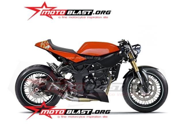modif ninja z250SL - cafe racer campuran 3