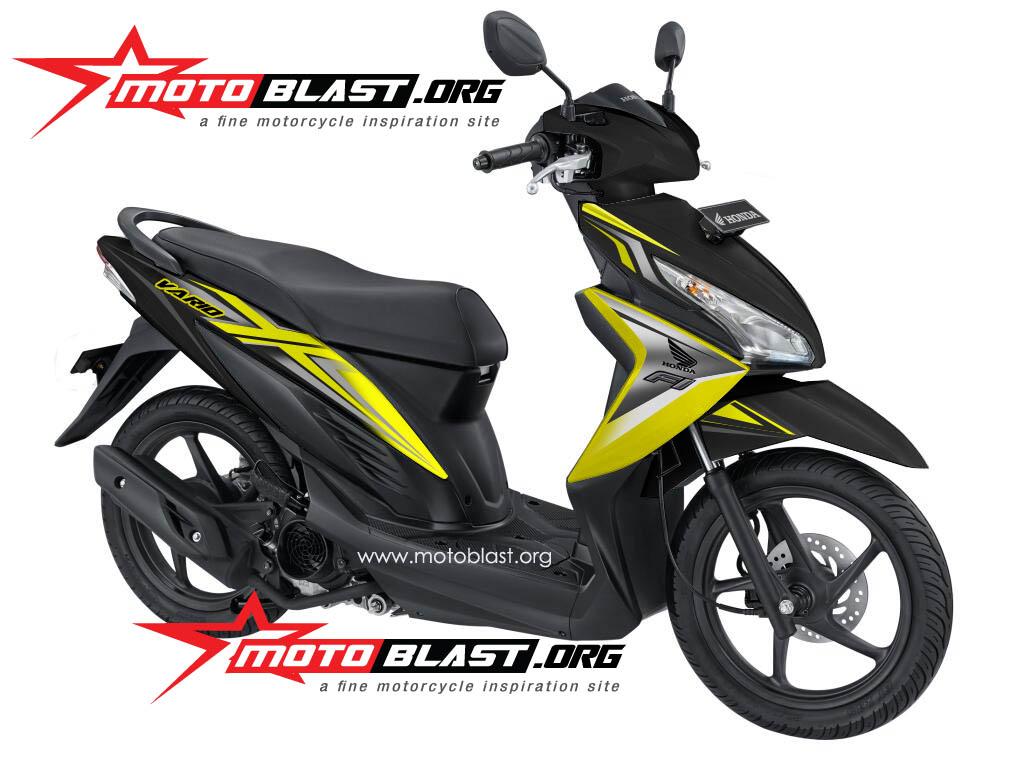 honda vario 110 FI warna hitam dan putih, motoblast sebut vario 110