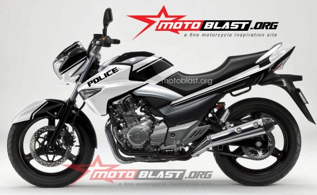 modif striping Suzuki Inazuma 250 - black-POLICE1