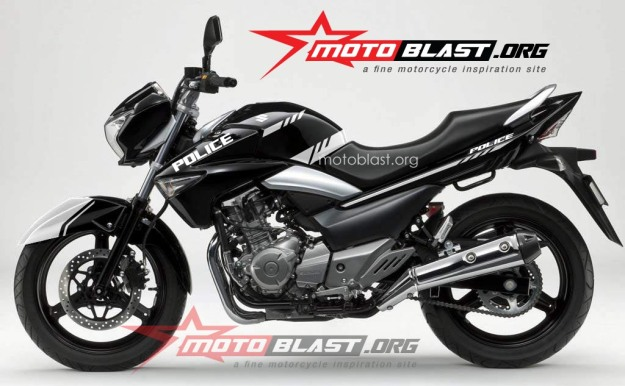 modif striping Suzuki Inazuma 250 - black-POLICE3