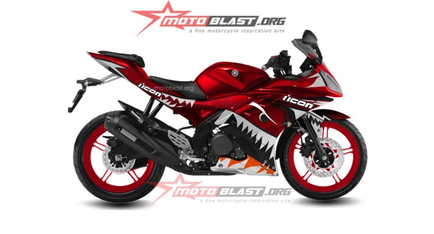 yamaha R15 RED SHARK