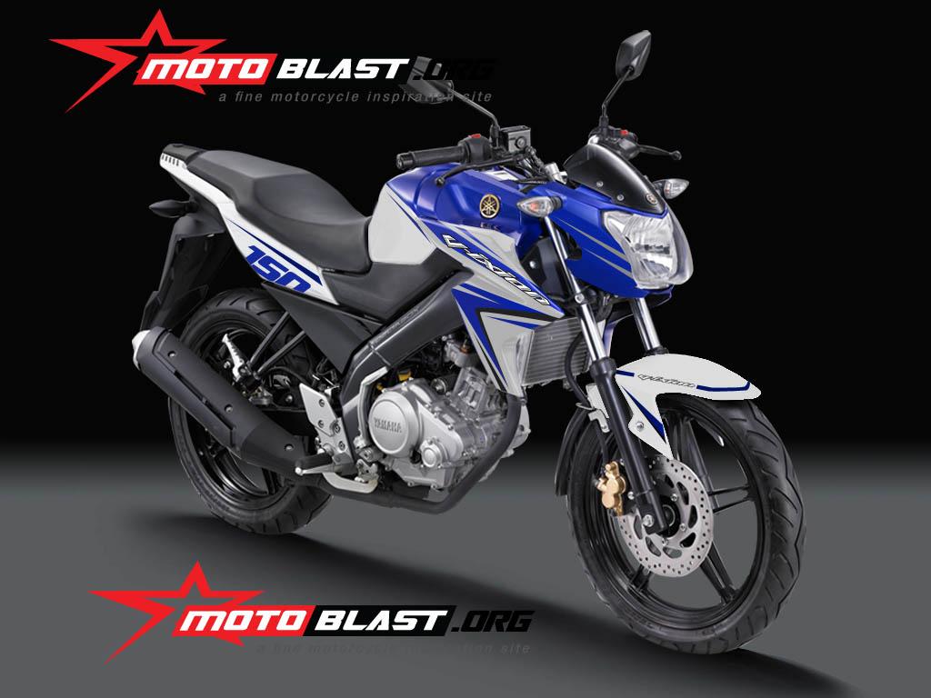 80 Modifikasi Motor Vixion Warna Biru Putih Terlengkap Spions Motor
